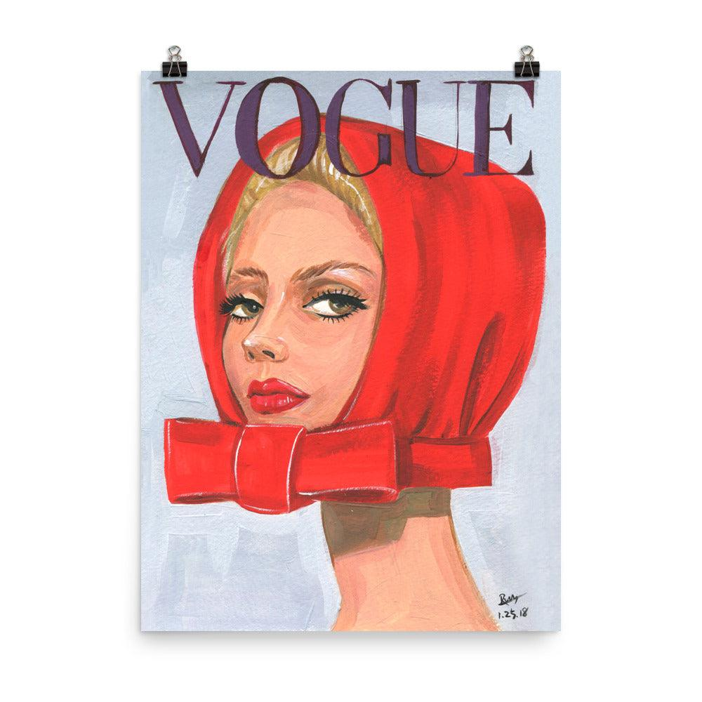 Red Hat Vintage Vogue Cover - Shop Rongrong