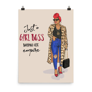 Just a Girl Boss Building Her Empire by Rongrong DeVoe Art Print - Shop Rongrong