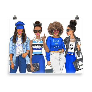 Zeta Phi Beta Sorority Sisters Art Print - Shop Rongrong