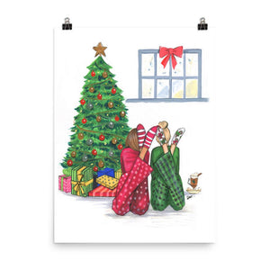 Christmas is Better Together Art Print