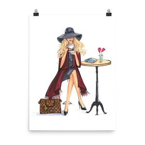 Lady Latte Art Print - Shop Rongrong