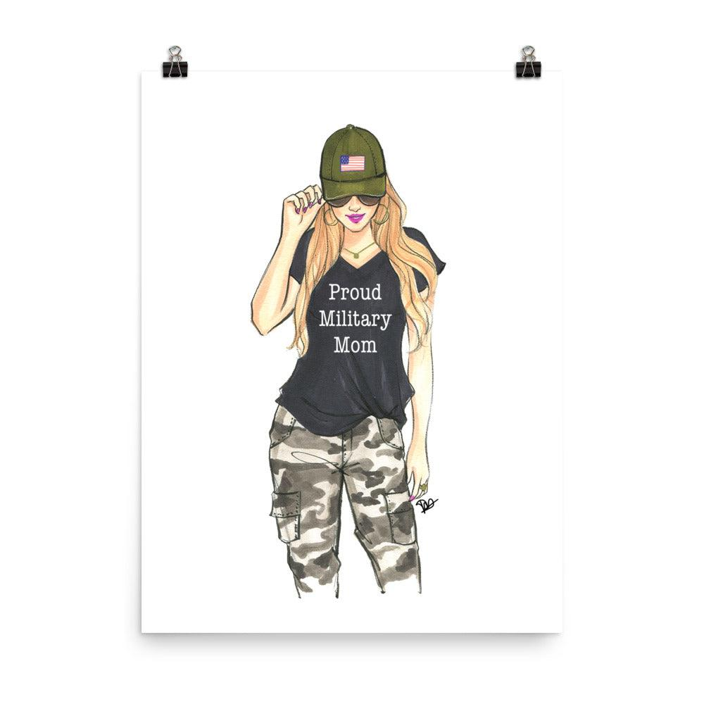 Proud Military Mom Art Print - Shop Rongrong