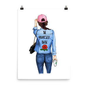 Be Yourself, Babe Art Print - Shop Rongrong