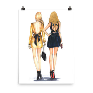 You Are The Blair To My Serena Art Print - Shop Rongrong