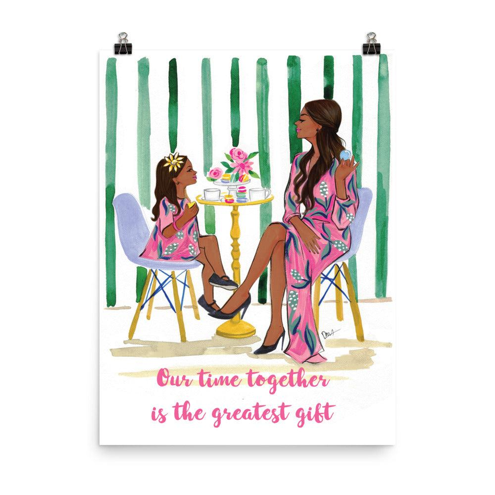 Our Time Together is the Greatest Gift Art Print - Shop Rongrong