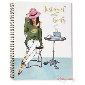 Just a Girl with Goals Notebook