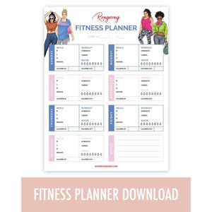 Fitness Planner Printable Insert [DOWNLOAD]