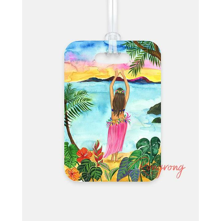 Hawaii, I'm Coming Luggage Tag - Shop Rongrong