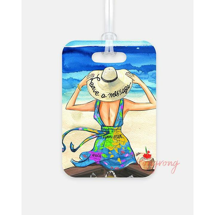 Leave a Message Luggage Tag - Shop Rongrong
