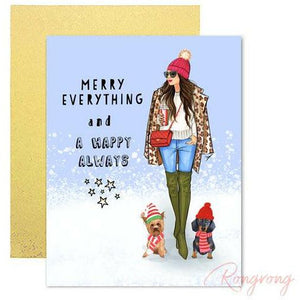 Merry Everything And Happy Always Greeting Cards - Shop Rongrong