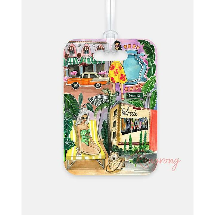 Miami Fun Luggage Tag - Shop Rongrong