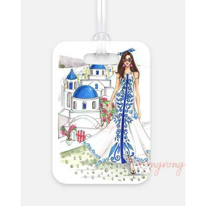 Take Me to Santorini Luggage Tag - Shop Rongrong