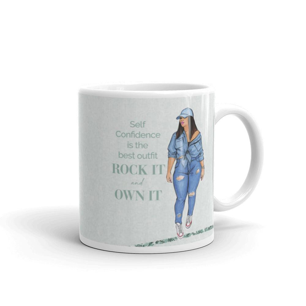 Confidence is the best outfit coffee mug - Shop Rongrong