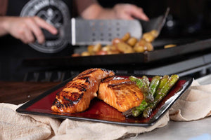 Firebee Spicy Honey Soy Glazed Salmon