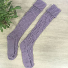 Feitong Quality Keep Warm Stocking For Women Cable Knitted Comfortable Soft Sexy Long Boot Knit Over Knee Thigh High Stocking
