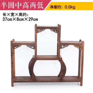 Rich Ancient Frame Wood Treasure Cabinet Display Shelves Of Chinese Style Furnishing Articles Recommended Antique Teapot Shelf