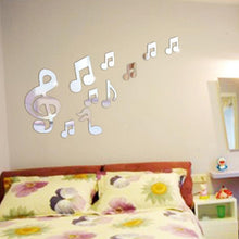 DIY Music Notation 3D Stickers Mirror Sticker Home Livingroom Decoration home decor living room