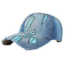 Denim Rhinestone Baseball Cap Fashion Women Men Hand Painted Snapback bone Hip Hop Flat Hat