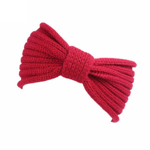 Fashion New headband Women Knitting Hair Accessories for women Solid Bow hairband Handmade Keep Warm Hairband 7 Colors