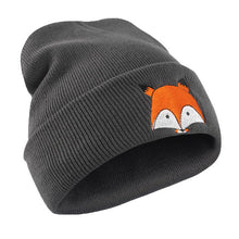Unisex Beanie Hat Funny Fox Embroidery Pattern Hat Warm Hat Knitted Cap Hats Winter Warm Fitted Soft Cap
