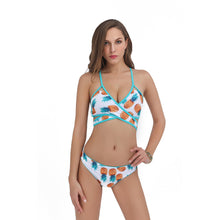 Strappy Bikini Swimsuits Sexy Two-Pieces Pineapple Printed Swimwear for Women