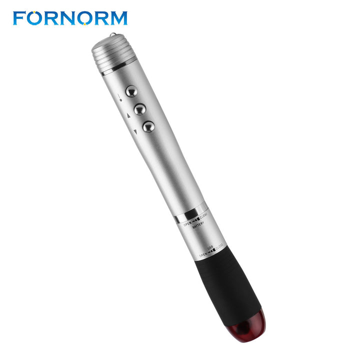 FORNORM Metal Wireless Presenter Powerpoint  Remote Control 2.4GHz PPT Point Laser Pen Battery Powered