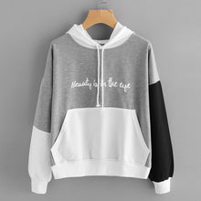 Womens Letters Long Sleeve Hoodie Sweatshirt Hooded Pullover Tops Blouse