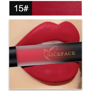 New 18 Colors Lip Lingerie Matte Liquid Lipstick Waterproof Lip Gloss Makeup