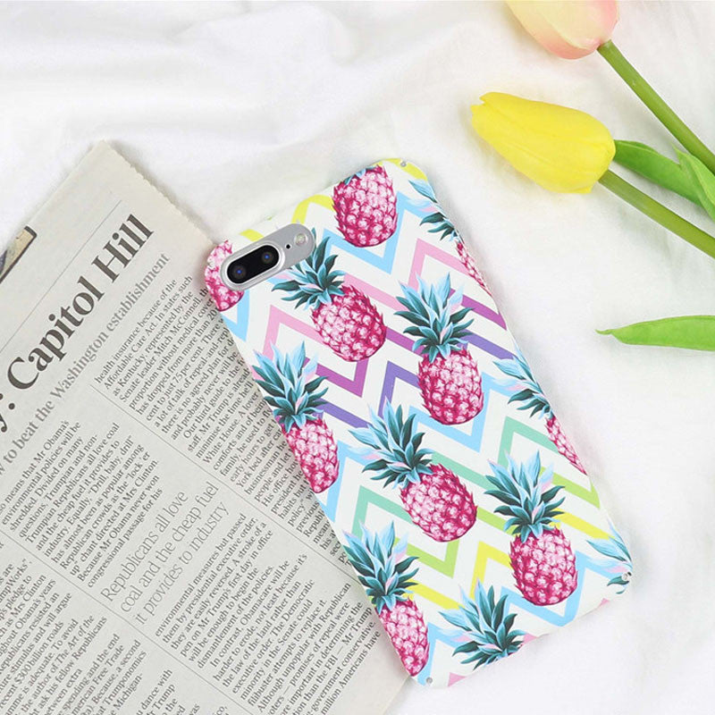 LACK Sea Wave Phone Case For iphone 8 Case Fashion Colorful pineapple