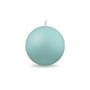 "Ball Candle Md 2 3/8"" 1 Piece Aquamarine"