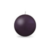 "Ball Candle Md 2 3/8"" 1 Piece Eggplant"