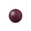 "Ball Candle Md 2 3/8"" 1 Piece French Bordeaux"