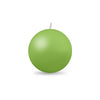 "Ball Candle Md 2 3/8"" 1 Piece Lime Green"