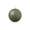 "Ball Candle Md 2 3/8"" 1 Piece Moss Green"
