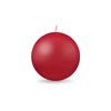 "Ball Candle Md 2 3/8"" 1 Piece Red"
