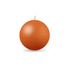 "Ball Candle Md 2 3/8"" 1 Piece Terra Cotta"