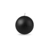 "Ball Candle Sm 2"" - 1 piece Black"