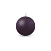 "Ball Candle Sm 2"" - 1 piece Eggplant"