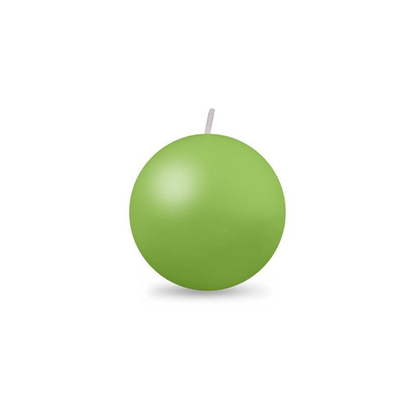 "Ball Candle Sm 2"" - 1 piece - Lime Green"