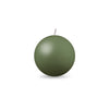 "Ball Candle Sm 2"" - 1 piece Moss Green"