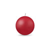 "Ball Candle Sm 2"" - 1 piece Red"