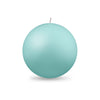 "Ball Candle Lg 3 1/8"" - 1 piece Aquamarine"