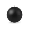 "Ball Candle Lg 3 1/8"" - 1 piece Black"
