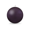"Ball Candle Lg 3 1/8"" - 1 piece Eggplant"