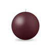 "Ball Candle Lg 3 1/8"" - 1 piece French Bordeaux"