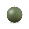 "Ball Candle Lg 3 1/8"" - 1 piece Moss Green"