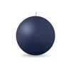 "Ball Candle Lg 3 1/8"" - 1 piece Navy Blue"