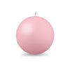 "Ball Candle Lg 3 1/8"" - 1 piece Petal Pink"