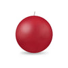 "Ball Candle Lg 3 1/8"" - 1 piece Red"