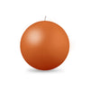 "Ball Candle Lg 3 1/8"" - 1 piece Terra Cotta"